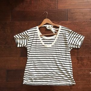 NWT Levi's Chelsea Stripe Tie Back Short Sleeve